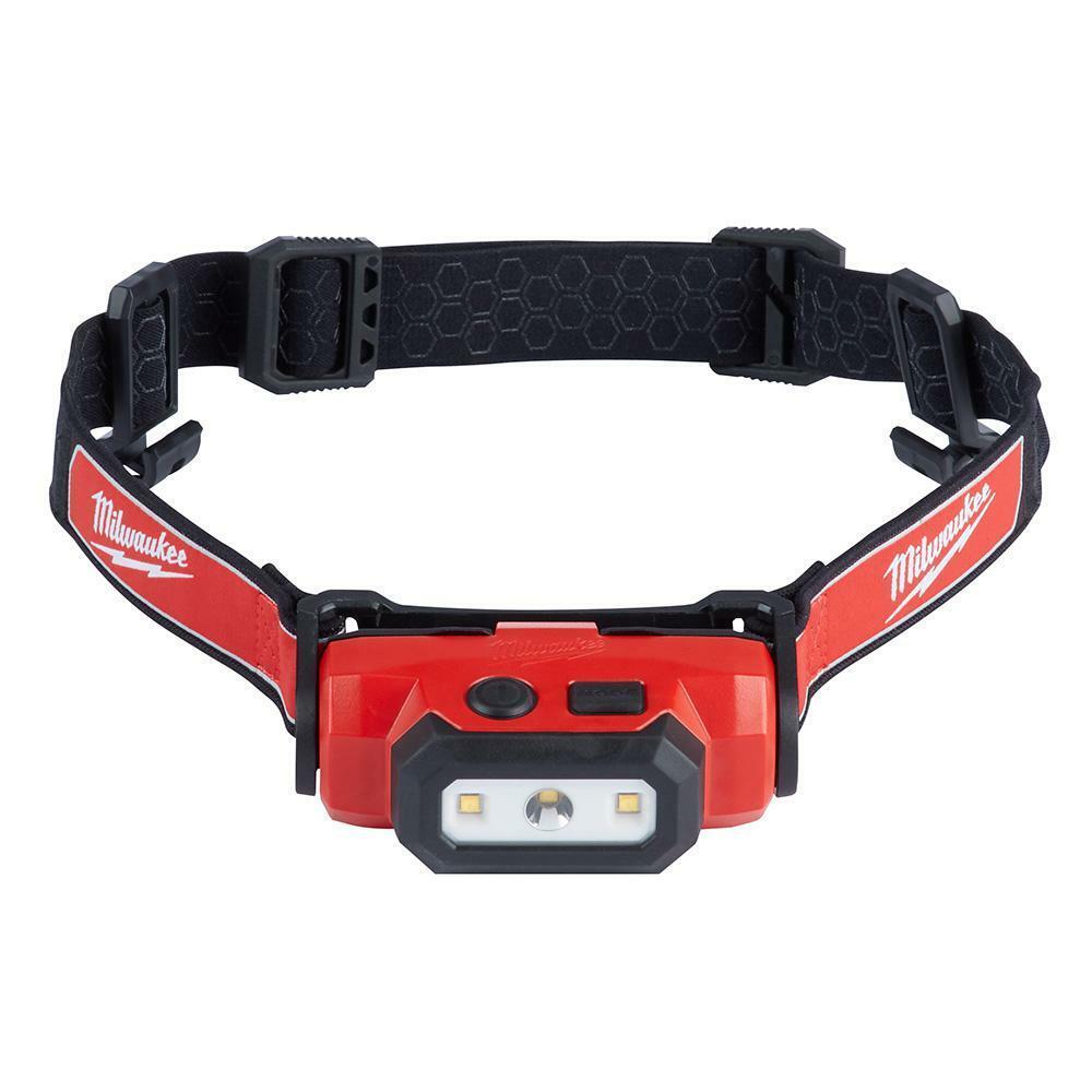 Rechargeable Hard Hat Headlamp USB Rechargeable LED 475 Lumens Flood Spot Beam