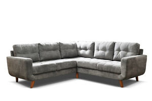 sofa aurora corner sofa grey fabric 3 2 seater armchair available ebay rh ebay co uk