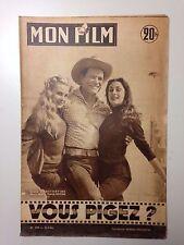 MON FILM N°509 1956 VOUS PIGEZ ? EDDIE CONSTANTINE - MARIA FRAU - YORICK ROYAN