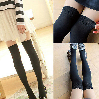 Womens Japanese Cute Over Knee Thigh Siamese Leggings Elastic Stockings Lovely