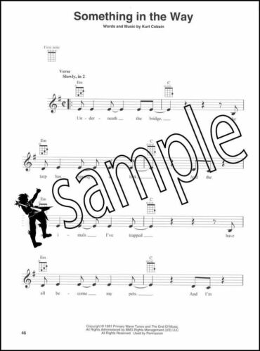 Nirvana for Ukulele Sheet Music Book Chord Boxes Sliver Sappy Dumb Lithium