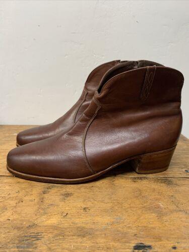 Vintage FLORSHEIM Ankle Boots 10.5 D Mens BEATLE B