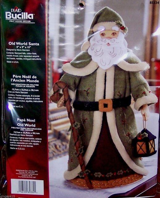 "Bucilla ""OLD WORLD SANTA"" Felt 3-D Christmas Centerpiece Kit Toys NIP OOP RARE"