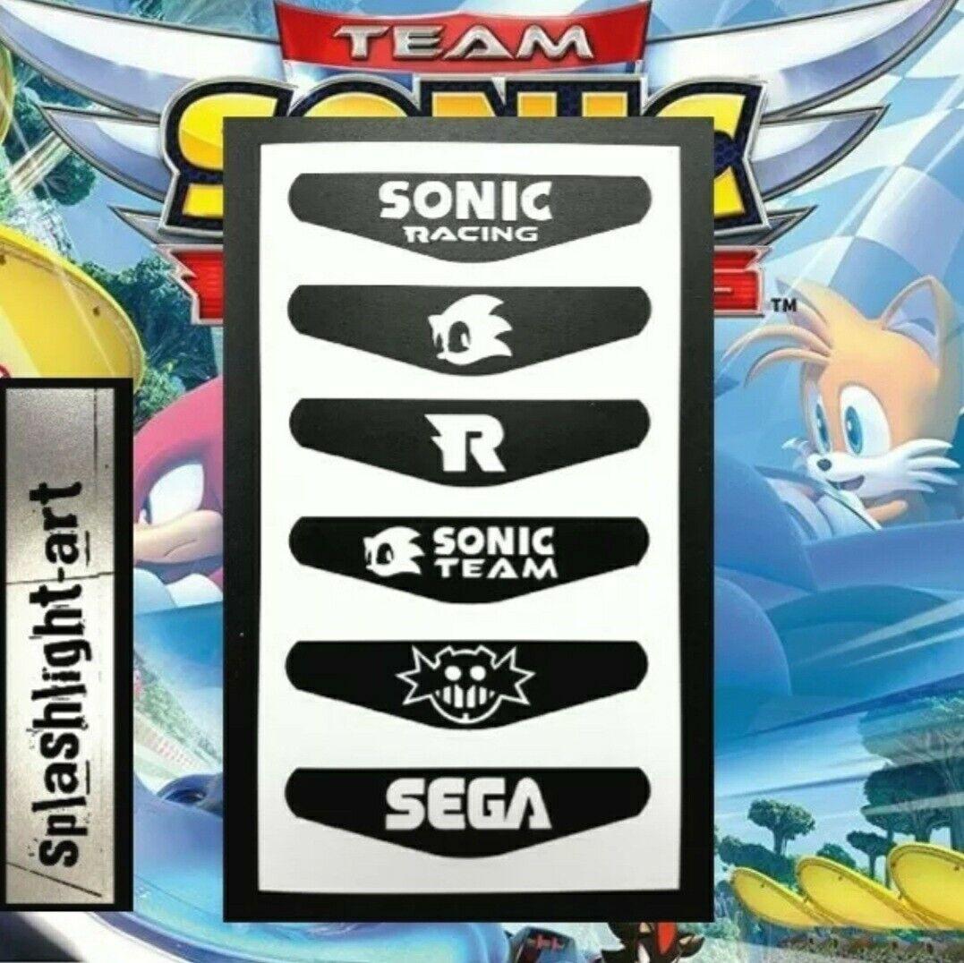 TEAM SONIC RACING 6x PS4 Controller Light bar VINYL Decal Sticker PlayStation 4