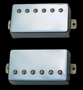 Guitar-Parts-GUITARHEADS-PICKUPS-ALNICO-SUPREME-PAF-HUMBUCKER-SET-2-CHROME