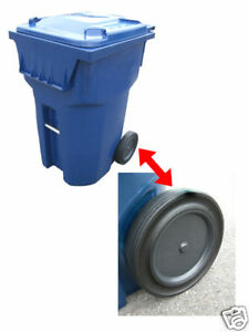 """Roll-Tech 10/"""" Rubber Tread Garbage Trash Can Waste Container Cart Wheel"""