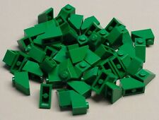 x50 NEW Lego Slopes Green 1x2 BRICK Roof Top House Modular Building