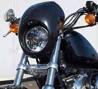 Sportster Fairing Harley Dyna Head Light Mask Fx Xl Front Cowl Fork Mount Visor