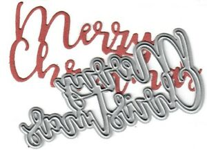 Merry Christmas In Cursive.Details About Dies To Die For Metal Cutting Craft Die Merry Christmas Cursive Word