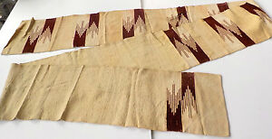 MEXICAN LONG SKINNY RUNNER RUG - VINTAGE EARLY 20TH CENTURY - TAPESTRY