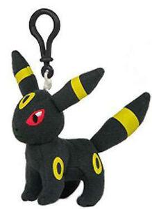 Pokemon-3-039-039-Umbreon-Eevolution-Plush-Bag-Clip-Key-Chain-NEW
