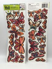 Main Street Wall Creations Jumbo Stickers Colorful Butterflies For Sale Online Ebay