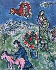 Sur la Route de Village, Limited Edition Offset Lithograph, Marc Chagall