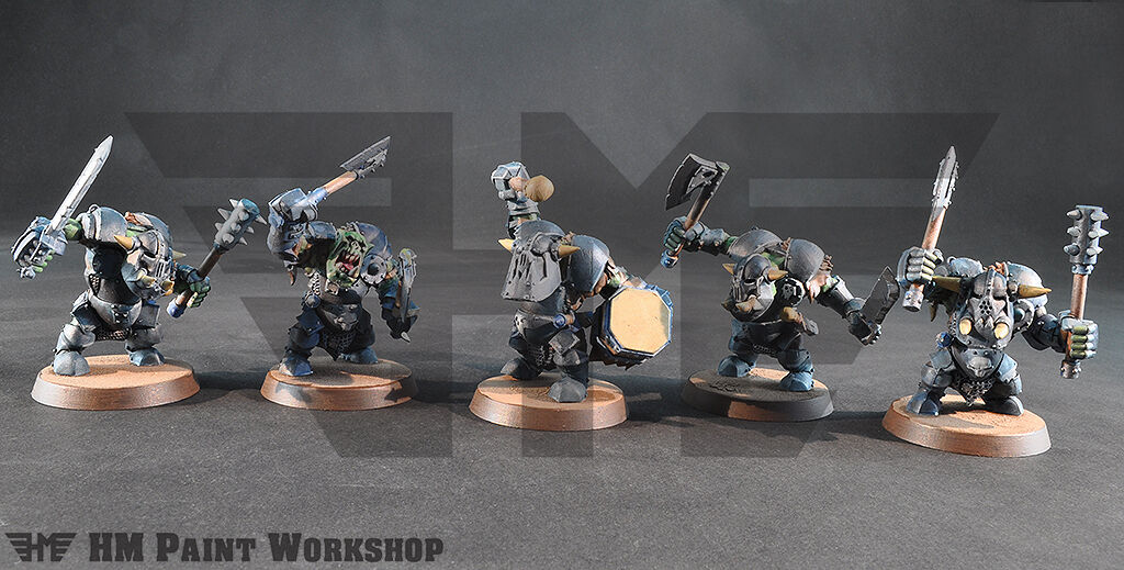 WARHAMMER Age of Sigmar destruction ironjaws ardboys 2 Main arme avec tambour (5)