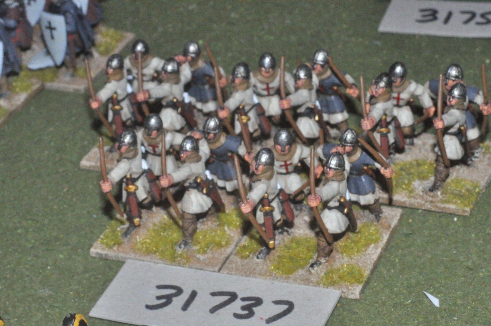 25mm medieval   crusader - archers 20 figures - inf (31737)