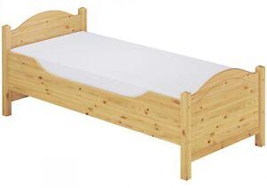 seniorenbett einzelbett g stebett kiefer 90x200 mit rollrost matratze m ebay. Black Bedroom Furniture Sets. Home Design Ideas