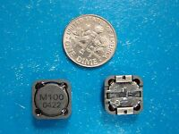 E&e 10uh 4a Shielded Inductor Siscdrh125m-100t, 12x12x6mm, Qty. 10