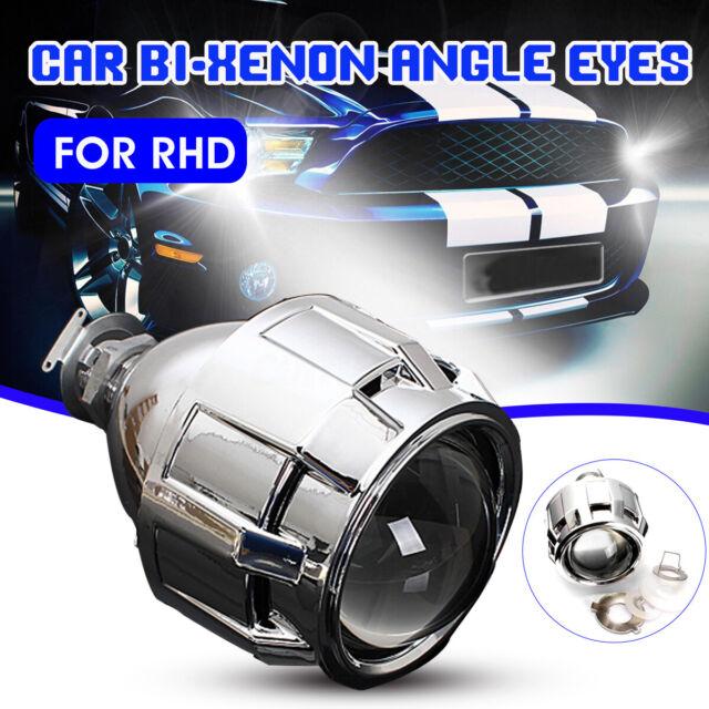 2.5'' HID Bi-xenon Projector Lens Shroud Headlight H1 H4 H7 Hi/Low Beam RHD ^