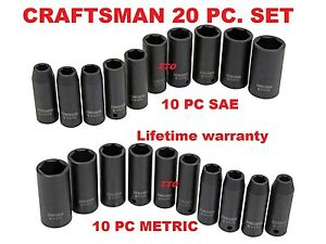 Craftsman-Evolv-20-pc-Deep-Impact-Socket-Set-SAE-amp-METRIC-FREE-SH-1-2-in-DR