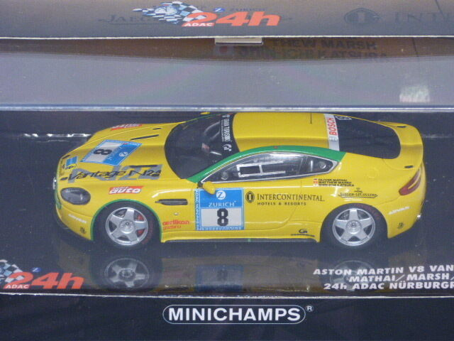 Minichamps Aston Martin V8 Vantage 24hr Nurburgring Mathai Marsh Kats REF 081308