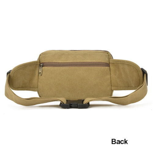 Casual Mens Canvas Fanny Pack Waist Belly Bag Hip Tool Pouch for All Purpose Use
