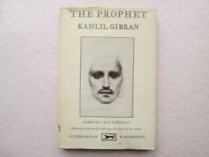 Details About The Prophet By Kahlil Gibran 1963 Hcdj 68th Printing Alfred A Knopf Borzoi Book