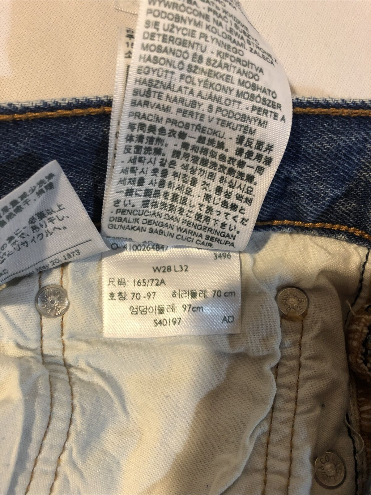 Levis Distressed 501 CT Jeans Size 28/32 - image 11