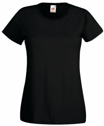 12 FRUIT OF THE LOOM LADY FIT T SHIRT 11 COLS ALL SIZES