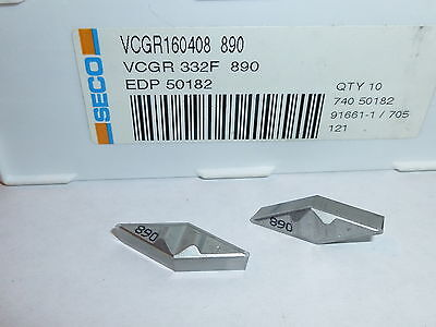 VNMG 332 M3 TP2500 SECO *** 5 INSERTS ** FACTORY PACK **