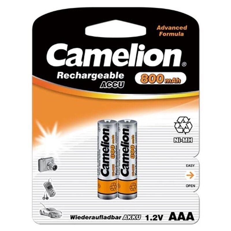 100 x Akku 1,2 Volt  800mAh Micro AAA HR03 Telefon NiMH wiederaufladbar Camelion