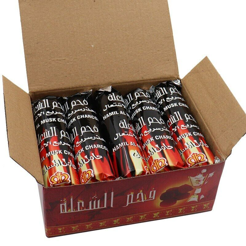 Useful Hookah Charcoal Quick-lighting Flavored Charcoal Less Ash Charcoal 1 Roll