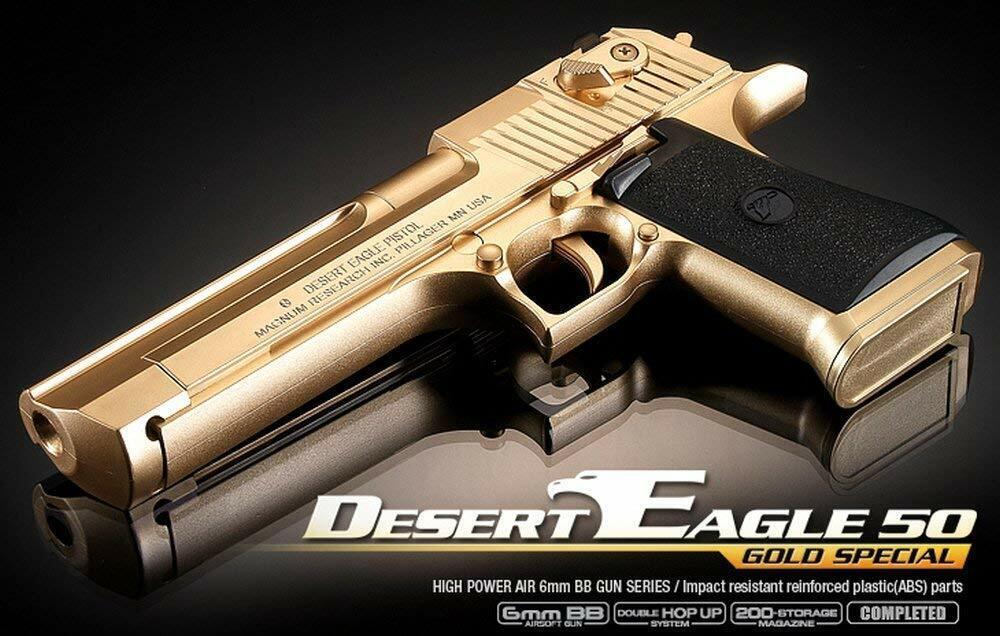 Desert Eagle 50 oro  Pistol Airsoft Hegun 6mm BB giocattolo Gun F S  vendita di offerte