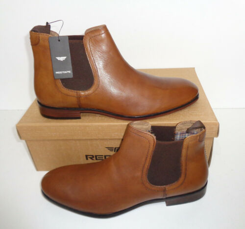 Mens New Tan 100/% Real Leather Ankle Chelsea Pull On Formal Boots UK Sizes 7-12