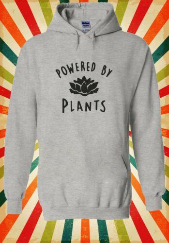 Powered By Plants Vegan Vegetarian Men Women Unisex Top Hoodie Sweatshirt 2297