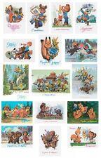 16x modern postcards! USSR artist Zarubin! amazing set of 16 cards! Зарубин