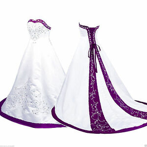 Plus Size 2 26 W White And Purple