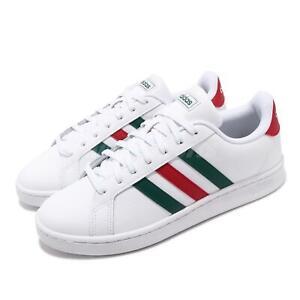 adidas Grand Court White Green Red Men