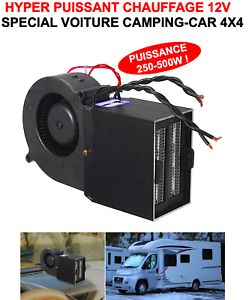 PROMO-HYPER-PUISSANT-ET-COMPACT-CHAUFFAGE-SOUFFLANT-12V-500W-4X4-CAMPING-CAR