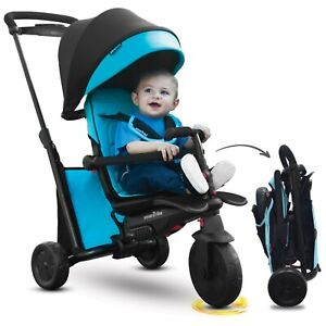 Smartrike Smartfold 500 7 En 1 Bébé Tricycle Évolutif 9-36 Mois Smart Trike Bleu