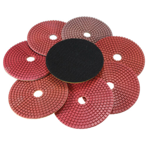 8PCS Diamond Polishing Pads Wet//Dry 5 inch Set For Granite Stone Concrete Marble