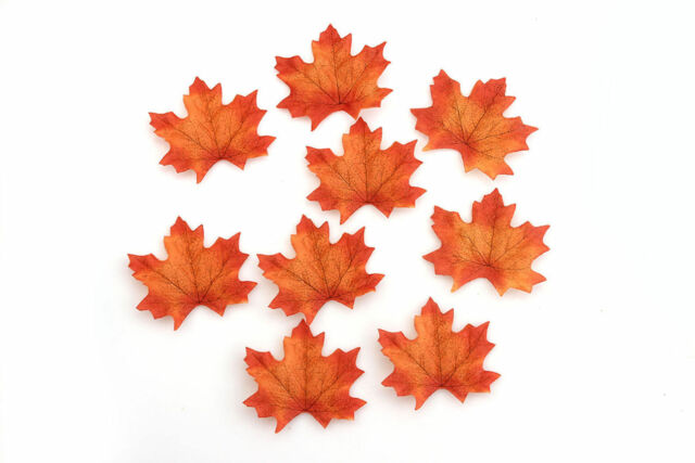 500 pcs 6 colors Fall Silk Leaves Wedding Favor Autumn Maple Leaf Decorations