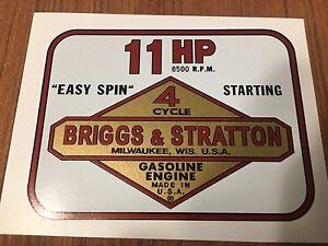 Briggs Stratton Murray 14-hp Decal set