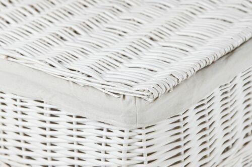 80 cm Blanc VIVANNO Coffre à Linge Panier De Saule /'LEA/'