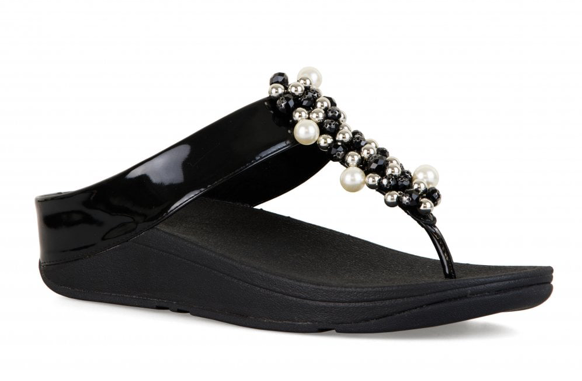 e39fafaff52fb1 FitFlop Womens Deco Toe Thong Sandals Black Size 10 for sale online ...
