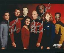 Star Trek Cast ++ Autogramm ++ Patrick Stewart & Jonathan Frakes & Michael Dorn