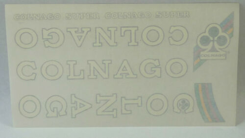 Colnago Decal Set Super Original From The 1980/'S White NOS Vintage Racing Bike