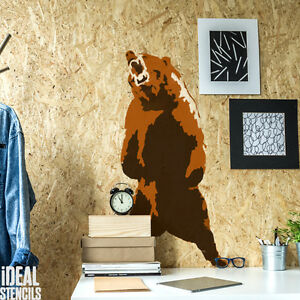 Image Is Loading Grizzly Bear Stencil 2 Layer Canadian Home