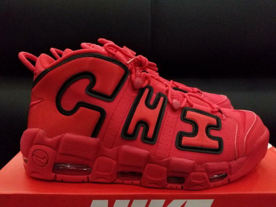 Nike Air More Uptempo QS CHI Chicago 100% Red AJ3138-600 Size 8-13 100% Chicago Authentic 0e7a0c