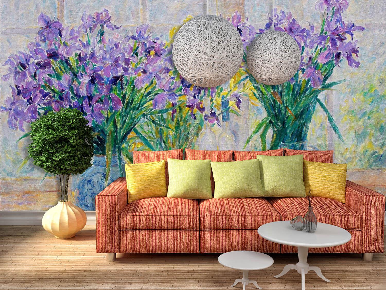 3D Hohe lila Blüten 4899 Fototapeten Wandbild Fototapete BildTapete Familie DE