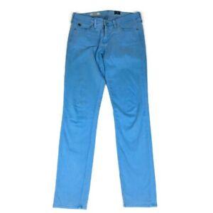 ag-adriano-goldschmied-Womens-The-Stilt-Cigarette-Jean-Pants-Light-Blue-Sz-27R